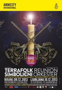 Amnesty International Slovenije – 25.letnica / Terrafolk & Simbolični orkester: »Svetloba v temi«
