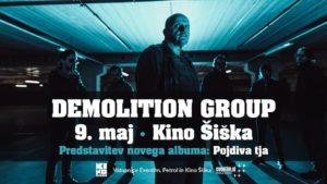 Legende slovenskega podzemlja Demolition Group 9. maja napovedujejo koncert v Kinu Šiška ob predstavitvi novega albuma: »Pojdiva tja«!