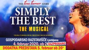 DODATNA PREDSTAVA – Muzikal SIMPLY THE BEST –  The TINA TURNER Story / Velika turneja ob 80. obletnici rock legende