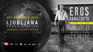 SVETOVNA TURNEJA – EROS RAMAZZOTTI – Arena Stožice, 23.11.2019