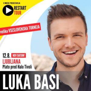 Koncert Luka Basi – Restart tour v Ljubljani, prestavljen na 12. 08. 2021
