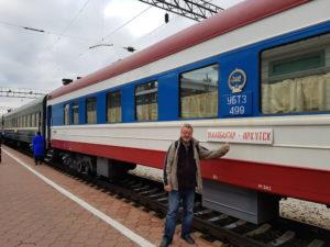 Marijan Petan s Transsibirsko železnico od Moskve do Mongolije