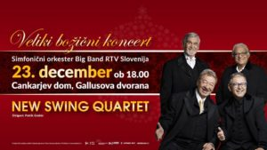 Tradicionalni božični koncert New Swing Quarteta, Simfoničnega orkestra in Big Banda RTV Slovenija