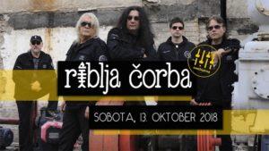 Najbolj kultna rock skupina nekdanje Jugoslavije – Riblja Čorba prihaja v Cvetličarno