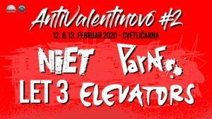 ANTIVALENTINOVO #2  CVETLIČARNA, LJUBLJANA 12. in 13. februar 2020