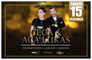 Regionalni glasbeni spektakel v Stožicah – CECA & ACA LUKAS – 15. december 2018