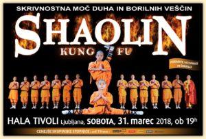 Svetovno znana vrhunska predstava kitajskih menihov iz znamenitega templja Shaolin prihaja v Slovenijo!