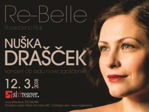 NUŠKA DRAŠČEK – koncert ob izidu nove zgoščenke RE-BELLE (posvečeno Piaf) – 12.3.2018