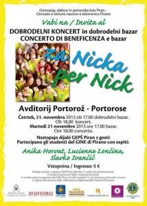 Anika Horvat, Slavko Ivančič, Lucienne Lončina v Portorožu – Dobrodelni koncert za Nicka