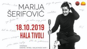 Marija Šerifović prihaja v Ljubljano! 18. 10. 2019, Hala Tivoli