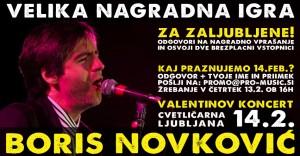 Nagradna igra – Koncert Boris Novković za zaljubljene!
