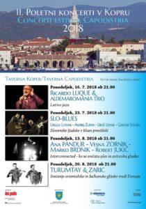 Poletni koncerti v Taverni Koper – 2018